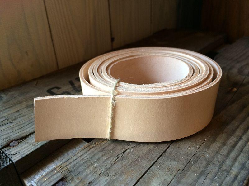画像1: 革テープ(ヌメ、3cm幅) 1.5mカット済み
