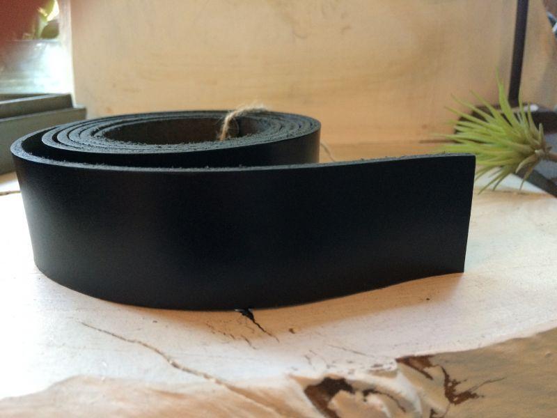 画像2: 革テープ(ブラック) 3cm幅×130cm カット済み