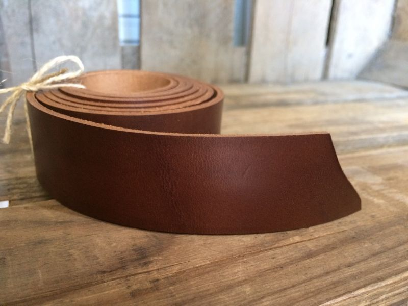 画像1: 革テープ(ブラウン) 3cm幅×135cm カット済み