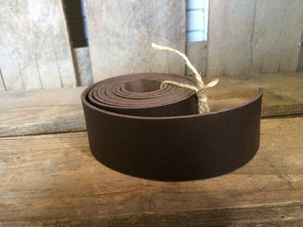 画像1: 革テープ(ダークブラウン) 3cm幅×140cm カット済み (1)