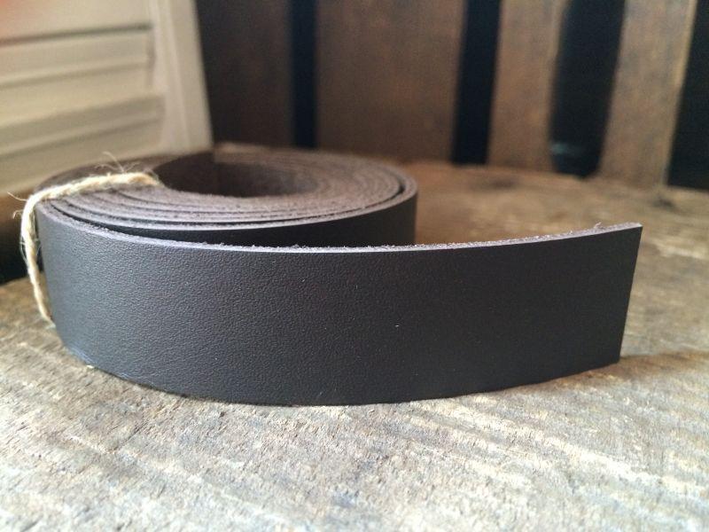 画像2: 革テープ(ダークブラウン) 2cm幅×140cm カット済み