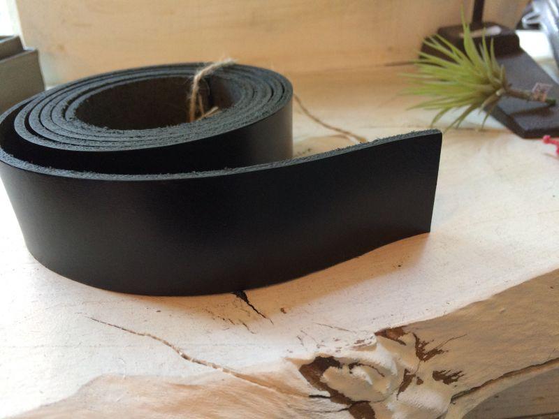 画像1: 革テープ(ブラック) 3cm幅×130cm カット済み