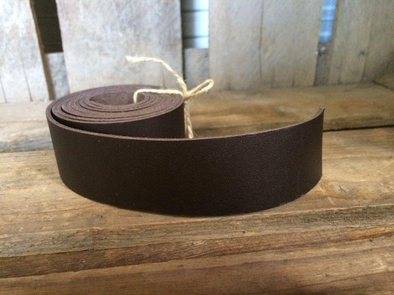 画像2: 革テープ(ダークブラウン) 3cm幅×140cm カット済み