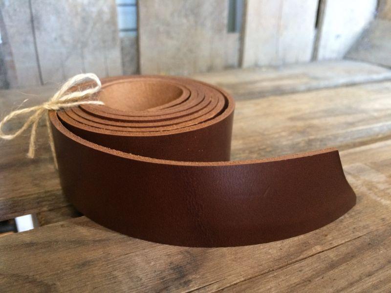 画像2: 革テープ(ブラウン) 3cm幅×135cm カット済み